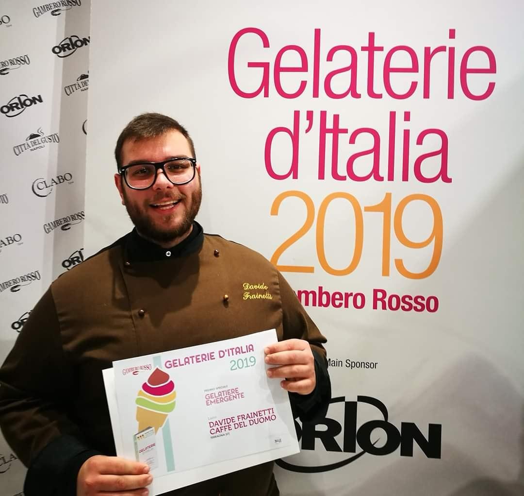 Davide Frainetti - Miglior Gelatiere Emergente d'Italia - Gambero Rosso - Gonetti - Torino